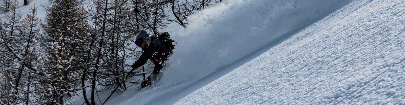 Germain Grangier skiing